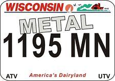 Wisconsin Metal Utv-Atv State License Plates - Ships Today - Watch Video Below!
