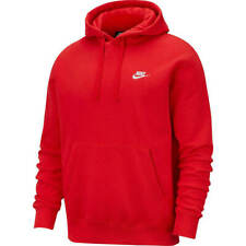 NIKE Men's $45 Sportswear Club Training Fleece Hoodie NEW 804346 657 Red Size XS