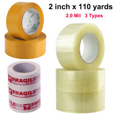 """1-72 Rolls STRONG Clear Brown PARCEL PACKING TAPE PACKAGING BOX SEALING 2"""" x110Y"""