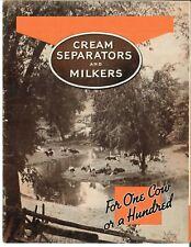 Ih International Mccormick Deering Cream Separators Amp Milkers Brochure Full Line