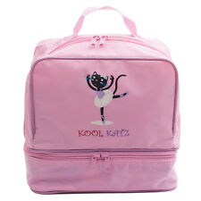Girls Pink Nylon Ballet Dance Shoe Rucksack Bag By Katz Dancewear Gifts KB12