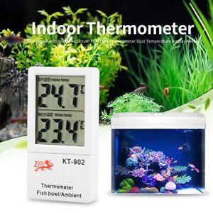 LCD Digital Thermometer For Indoor/Aquarium/Fish Tank Dual Temperature Plastic