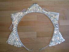 Exotic High Quality Hand made Belly Dance Professional Coin Chain Belt....SILVER