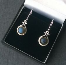 SILVER LABRADORITE EARRINGS  SOLID 925 QUALITY