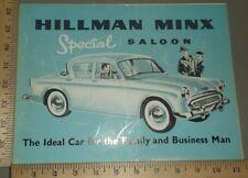 1958 Hillman Special Saloon Folder Brochure US Import