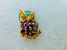 Gold Plated Owl Brooch