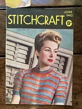 Vintage 1942 Stitchcraft Magazine Knitting Wartime Home front