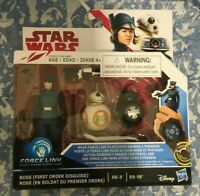 New Star Wars The Last Jedi Rose BB-8 BB-9E Force Link Action Figures