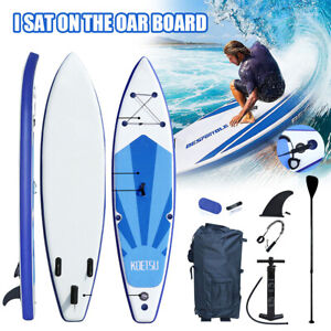 12.5ft Upgrade Inflatable Surfboard SUP Stand Up Paddle Board Paddle Accessories