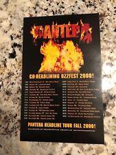 PANTERA 2000 REINVENTING THE STEEL HEADLINE TOUR PROMO ADVANCE PRESS SHEET (B-2)