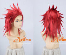Kingdom hearts Axel Red Anime Cosplay Costume Wig
