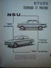 revue technique NSU 1000 & 1200 TT 110 SC TTS  E.O 1970 français
