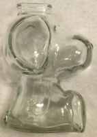 "Vintage Snoopy Coin Bank 1960's Clear Glass Peanuts 6"" Tall"