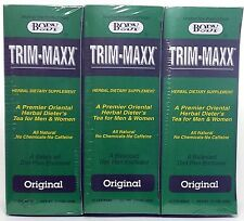 TRIM-MAXX All Natural Original Herbal Dietary Supplement Tea - 90 bags (3-boxes)