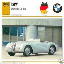 BMW 328 MILLE MIGLIA 1940 CAR VOITURE GERMANY ALLEMAGNE CARTE CARD FICHE