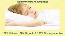 "ORGANIC BUCKWHEAT ETHICAL NATURAL SLEEP PILLOW BABY SIZE 21"" X 13"" BRITISH MADE"