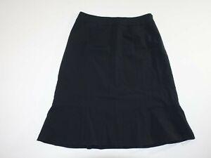 Pendleton Women's Savvy Stretch Wool Skirt Size 8 Black Lined Knee Length