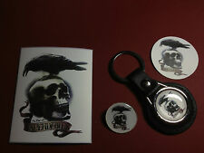 THE EXPENDABLES    KEY RING,  BADGE & FRIDGE MAGNET + FREE PHONE STICKER