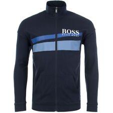 Hugo Boss Men's Premium Cotton Sweater Zip Up Sweatshirt Track Jacket