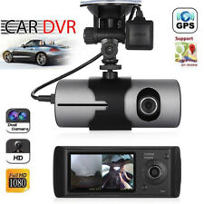 Car Dvr Camera Video Recorder Dash Cam G-Sensor Night Vision Dual Lens Gps G-Map