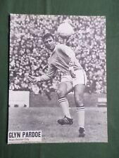 GLYN PARDOE - MANCHESTER CITY    -  1 PAGE PICTURE-CLIPPING/CUTTING