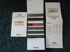 2019 IMPALA CHEVROLET FACTORY COLOR CHIP SAMPLE CHART BROCHURE NEW AND COOL