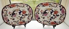 Masons Ironstone England Hand Painted Mandalay Pattern 2 x Serving Platters 33cm
