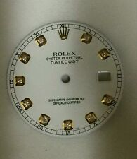 Rolex Men's Datejust Quickset White Diamond Dial 2T