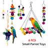 Papagei Spielzeug Käfig Hängend Glocke Wellensittich Sittich Spielzeug 6 in1