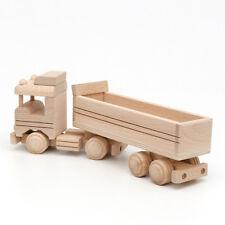 Truck Camión semirremolque 30cm decoración de madera natural 25123