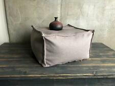 Square minimalist industrial decor floor cushion, nordic design gray footstool