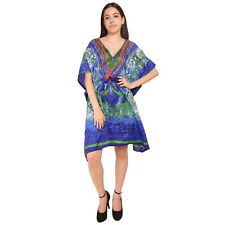 Floral Short kaftan Indian Women's Cocktail Nightwear Dress Maxi For Ladies