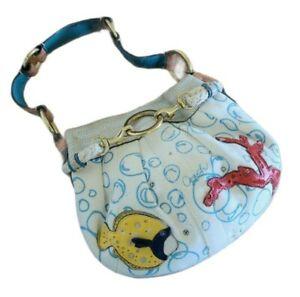 Coach Limited Edition Under the Sea Mini Purse Handbag Fish Coral Bubble Ocean