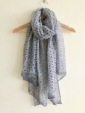 LADIES GREY ABSTRACT PRINT  SOFT OVERSIZED SCARF WRAP NEW IN