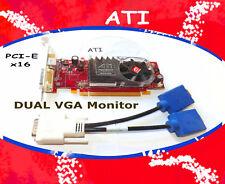 DUAL MONITOR Windows 7 PCI-E 16 Video Card.HD 2400 . ATI 256MB. Driver CD