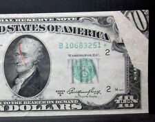 1950-A $10 ERROR ✪ FOLD-OVER STAR NOTE ✪ RED REJECTION MARK MAJOR FRN ◢TRUSTED◣