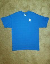 Star Trek T Shirt Spock Science Uniform Fleet Insignia Blue Halloween Costume L