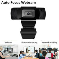 HD Webcam Auto Focusing Web Camera Cam Microphone For PC Laptop Desktop