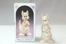 """Precious Moments 521175 1988 """"Hello World"""" Mint In Orig Box #443"""