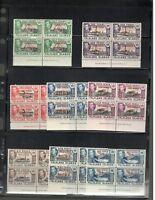 1944 Falkland Islands  SC #3L1-8 Imprint blocks of four MNH stamps Nice set!