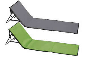 Campingmatte Strandmatte Strandliege mit Rückenlehne