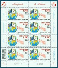 MONACO - Feuille N° 2678 - Feuille de 8 Timbres Neufs // 2009 - MONACO L'UNESCO