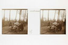 Automobile ancien Mode France Plaque de verre Stereo Positif Vintage ca 1910