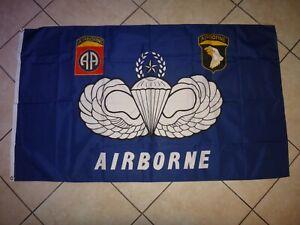 Joint États-Unis Armée 101st Et 82nd Airborne Division Chiffon Imprimé Flag Neuf