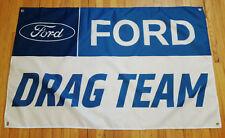 Ford Drag Team Flag Automotive Shop Garage Man Cave Banner 5X3FT