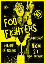 "Reproduction ""Foo Fighters - House Of Blues"",  Poster, Grunge, Home Wall Art"