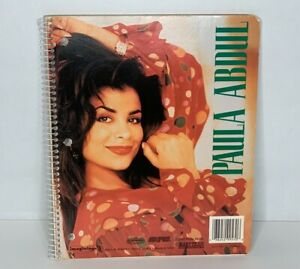 Vintage Paula Abdul 1991 Winterland Productions Spiral Notebook Rare, 50 Pages