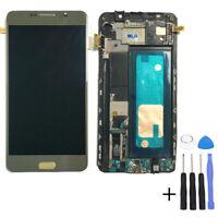 Für Samsung Galaxy Note 5 N920F Super Amoled LCD Touchscreen Display Rahmen Gold