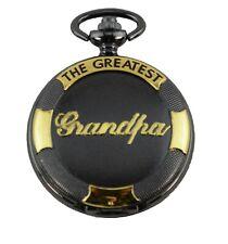 Black & Gold Pocket Watch - The Greatest Grandpa Gift Watch Grandfather Granda