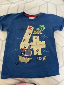 Boys Number 4 T-Shirt - Age 4